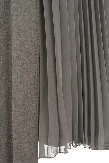 LOUNIE(ルーニィ)の古着「サイドシフォンプリーツアシメロングスカート(ロングスカート・マキシスカート)」大画像5へ