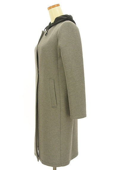 Ketty Cherie(ケティ シェリー)の古着「パーカー付きノーカラーコート(コート)」大画像3へ