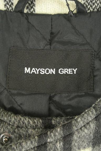 MAYSON GREY(メイソングレイ)の古着「チェック柄ノーカラーコート(コート)」大画像6へ