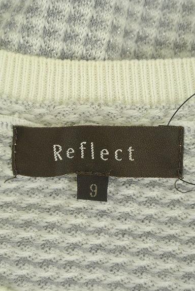 Reflect(リフレクト)の古着「ラメチェック柄ニットトップス(ニット)」大画像6へ