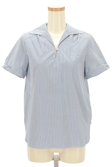 KarL Park Lane(カールパークレーン)の古着「リボン袖のストライプシャツ(カジュアルシャツ)」大画像1へ