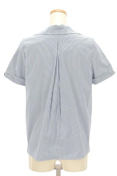 KarL Park Lane(カールパークレーン)の古着「リボン袖のストライプシャツ(カジュアルシャツ)」大画像2へ