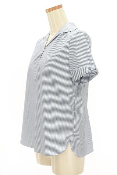 KarL Park Lane(カールパークレーン)の古着「リボン袖のストライプシャツ(カジュアルシャツ)」大画像3へ