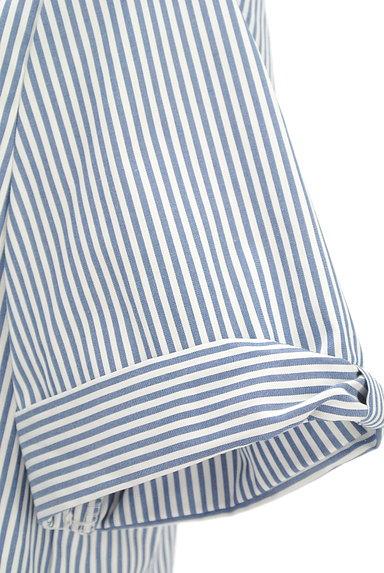 KarL Park Lane(カールパークレーン)の古着「リボン袖のストライプシャツ(カジュアルシャツ)」大画像4へ