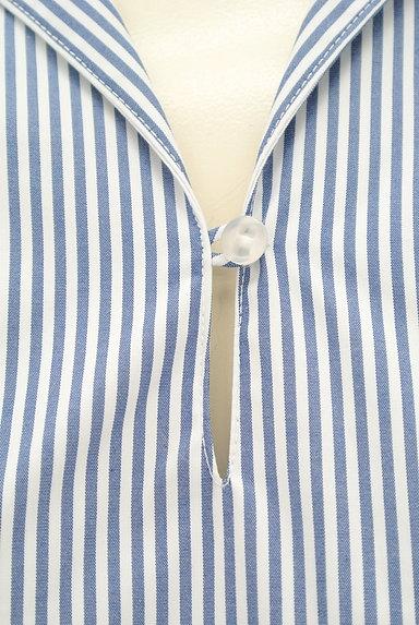KarL Park Lane(カールパークレーン)の古着「リボン袖のストライプシャツ(カジュアルシャツ)」大画像5へ