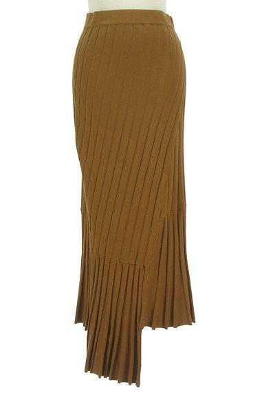 MOUSSY(マウジー)の古着「イレヘム切替リブニットスカート(ロングスカート・マキシスカート)」大画像1へ