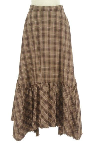 MOUSSY(マウジー)の古着「変形裾フリルのマキシスカート(ロングスカート・マキシスカート)」大画像1へ