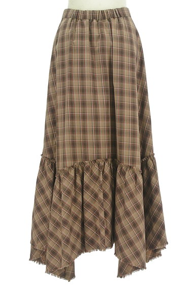MOUSSY(マウジー)の古着「変形裾フリルのマキシスカート(ロングスカート・マキシスカート)」大画像2へ