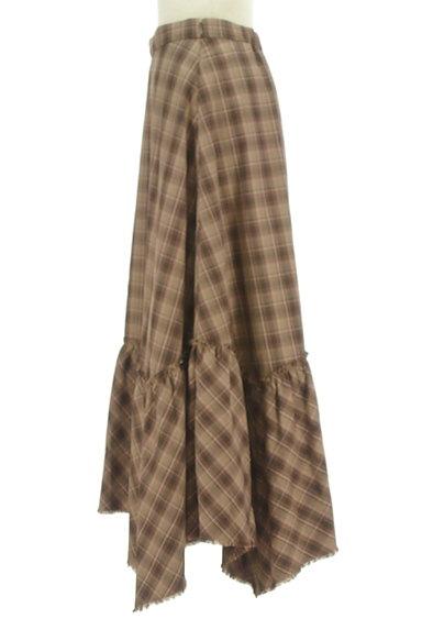 MOUSSY(マウジー)の古着「変形裾フリルのマキシスカート(ロングスカート・マキシスカート)」大画像3へ