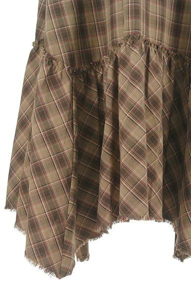 MOUSSY(マウジー)の古着「変形裾フリルのマキシスカート(ロングスカート・マキシスカート)」大画像5へ