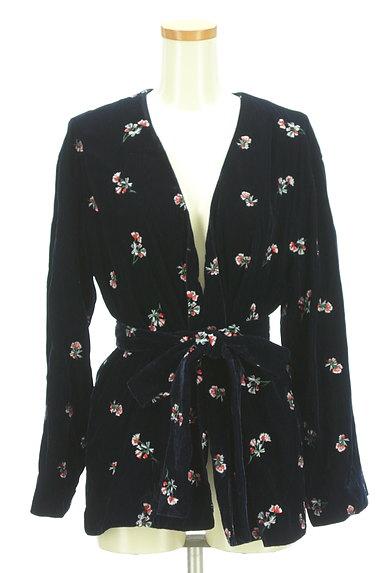 MOUSSY(マウジー)の古着「刺繍ベロアガウンジャケット(ジャケット)」大画像1へ