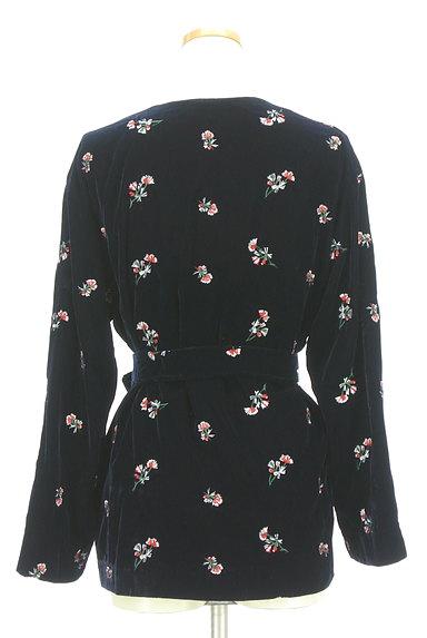 MOUSSY(マウジー)の古着「刺繍ベロアガウンジャケット(ジャケット)」大画像2へ