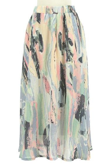 antiqua(アンティカ)の古着「ニュアンス総柄ロングスカート(ロングスカート・マキシスカート)」大画像1へ