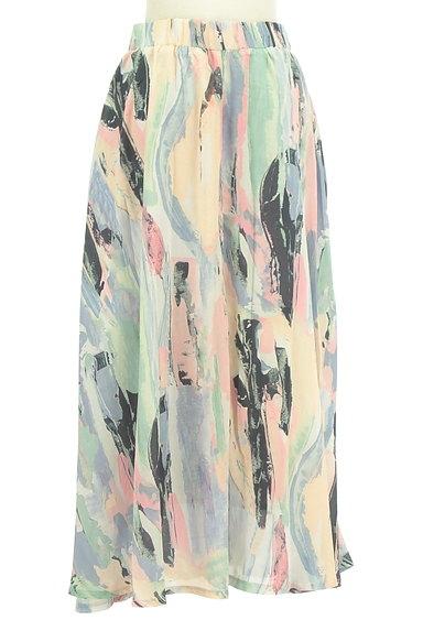 antiqua(アンティカ)の古着「ニュアンス総柄ロングスカート(ロングスカート・マキシスカート)」大画像2へ
