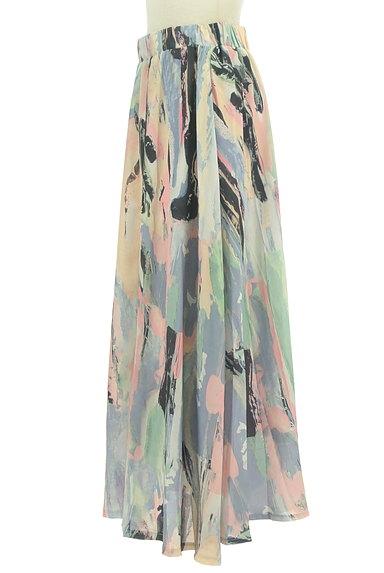 antiqua(アンティカ)の古着「ニュアンス総柄ロングスカート(ロングスカート・マキシスカート)」大画像3へ