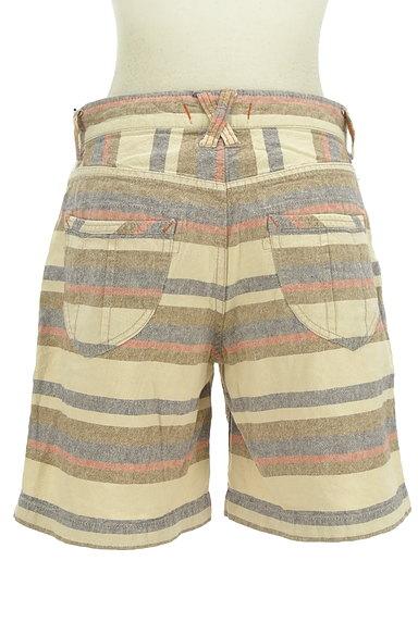 CUBE SUGAR(キューブシュガー)の古着「くすみボーダーショートパンツ(ショートパンツ・ハーフパンツ)」大画像2へ