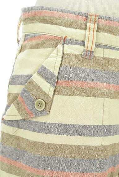 CUBE SUGAR(キューブシュガー)の古着「くすみボーダーショートパンツ(ショートパンツ・ハーフパンツ)」大画像4へ