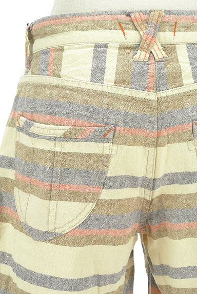 CUBE SUGAR(キューブシュガー)の古着「くすみボーダーショートパンツ(ショートパンツ・ハーフパンツ)」大画像5へ