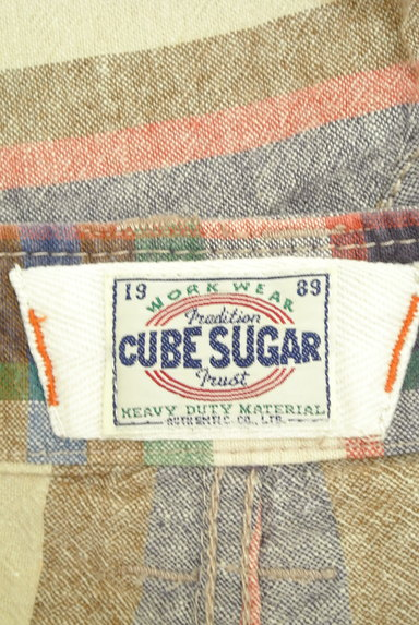 CUBE SUGAR(キューブシュガー)の古着「くすみボーダーショートパンツ(ショートパンツ・ハーフパンツ)」大画像6へ