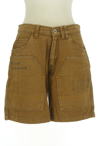 CUBE SUGAR(キューブシュガー)の古着「ロゴプリントショートパンツ(ショートパンツ・ハーフパンツ)」大画像1へ