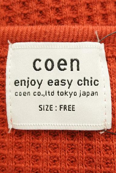 coen(コーエン)の古着「フレンチスリーブワッフルカットソー(カットソー・プルオーバー)」大画像6へ