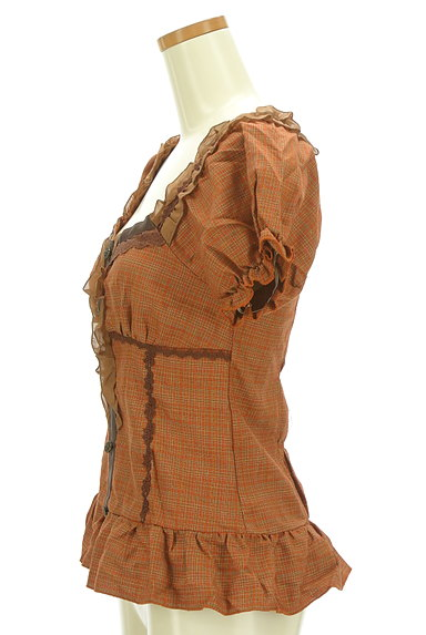 axes femme(アクシーズファム)の古着「裾フリルペプラムカットソー(カットソー・プルオーバー)」大画像3へ
