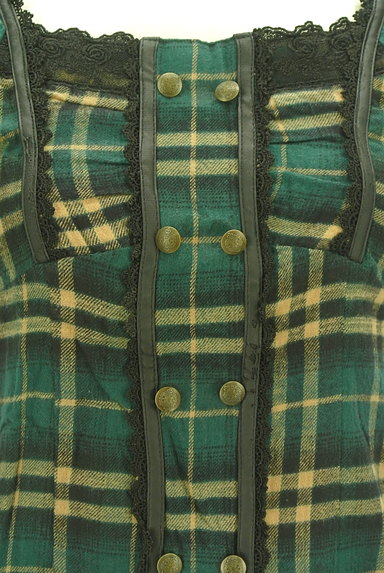 axes femme(アクシーズファム)の古着「チェック×レースのカットソー(カットソー・プルオーバー)」大画像4へ