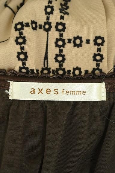 axes femme(アクシーズファム)の古着「オリエンタル柄ベロア切替ワンピ(ワンピース・チュニック)」大画像6へ