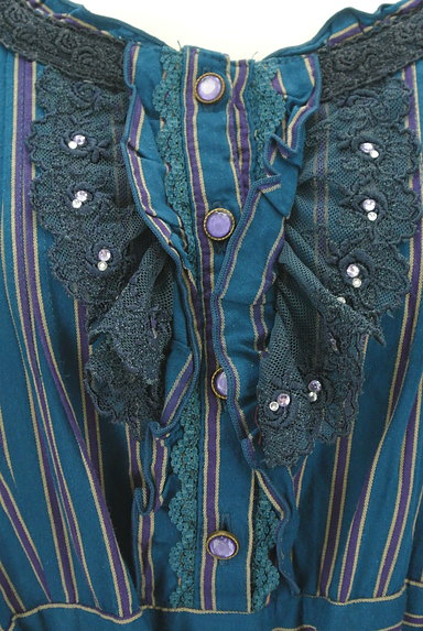 axes femme(アクシーズファム)の古着「ストライプガーリーフレアワンピ(ワンピース・チュニック)」大画像4へ