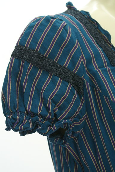 axes femme(アクシーズファム)の古着「ストライプガーリーフレアワンピ(ワンピース・チュニック)」大画像5へ