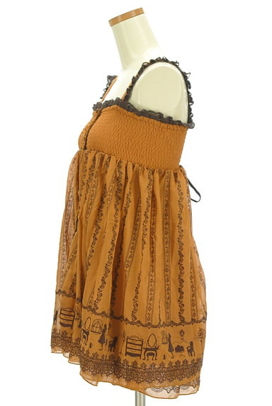axes femme(アクシーズファム)の古着「オリエンタル柄キャミワンピ(キャミソール・タンクトップ)」大画像3へ
