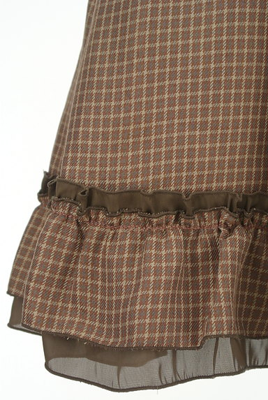 axes femme(アクシーズファム)の古着「チェック柄ふんわりミニワンピース(ワンピース・チュニック)」大画像5へ