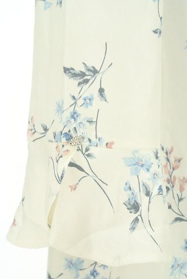 MISCH MASCH(ミッシュマッシュ)の古着「フレアビジュー袖花柄ワンピース(ワンピース・チュニック)」大画像4へ