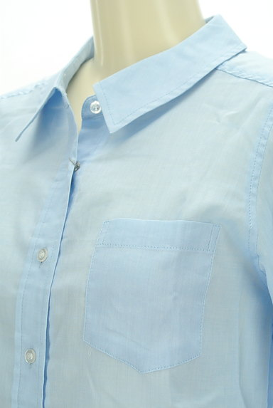 MISCH MASCH(ミッシュマッシュ)の古着「シアーカラーシャツ(カジュアルシャツ)」大画像4へ