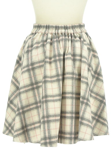 LODISPOTTO(ロディスポット)の古着「ふわっとチェック柄フレアスカート(スカート)」大画像2へ
