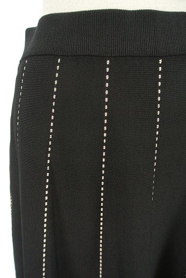 m's select(エムズセレクト)の古着「ドットストライプ膝下丈ニットスカート(スカート)」大画像4へ