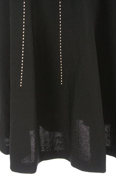 m's select(エムズセレクト)の古着「ドットストライプ膝下丈ニットスカート(スカート)」大画像5へ