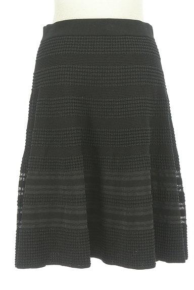 TO BE CHIC(トゥービーシック)の古着「凹凸ボーダー膝丈フレアスカート(スカート)」大画像2へ