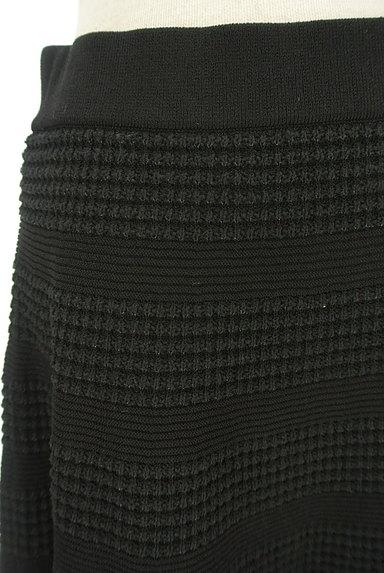 TO BE CHIC(トゥービーシック)の古着「凹凸ボーダー膝丈フレアスカート(スカート)」大画像4へ