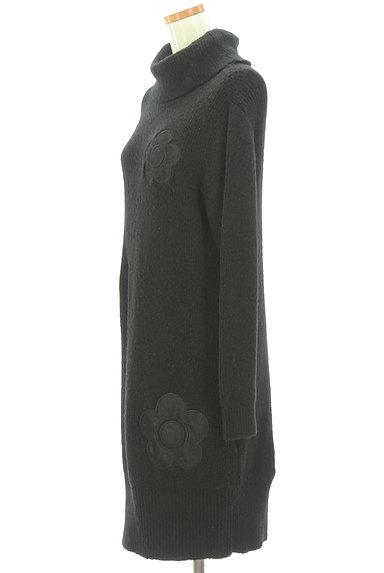 MARY QUANT(マリークワント)の古着「レース花モチーフタートルネックニットワンピ(ワンピース・チュニック)」大画像3へ