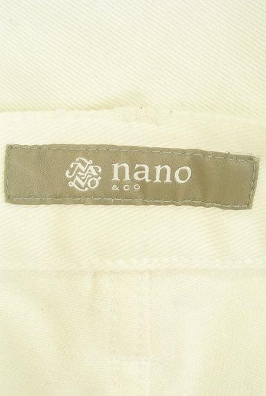 nano・universe(ナノユニバース)の古着「ストレートホワイトパンツ(デニムパンツ)」大画像6へ
