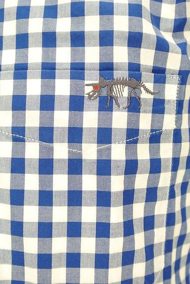 nano・universe(ナノユニバース)の古着「ワンポイント刺繍チェック柄シャツ(カジュアルシャツ)」大画像5へ