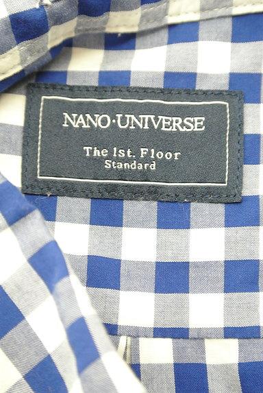 nano・universe(ナノユニバース)の古着「ワンポイント刺繍チェック柄シャツ(カジュアルシャツ)」大画像6へ