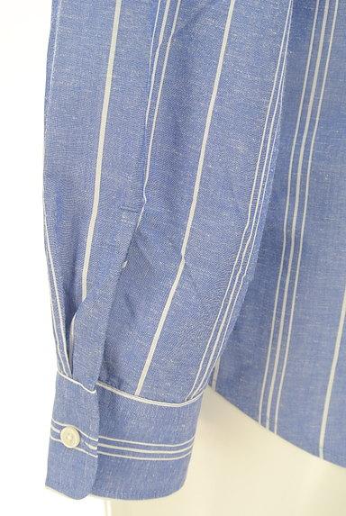 nano・universe(ナノユニバース)の古着「オープンカラーストライプ柄シャツ(カジュアルシャツ)」大画像5へ