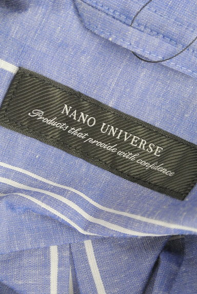 nano・universe(ナノユニバース)の古着「オープンカラーストライプ柄シャツ(カジュアルシャツ)」大画像6へ