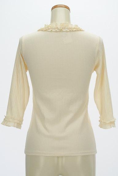 axes femme(アクシーズファム)の古着「ベロアキャミ付きフリル七分袖リブニット(アンサンブル)」大画像5へ