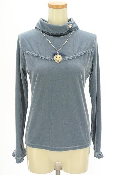 axes femme(アクシーズファム)の古着「カメオネックレス付きフリルカットソー(カットソー・プルオーバー)」大画像1へ