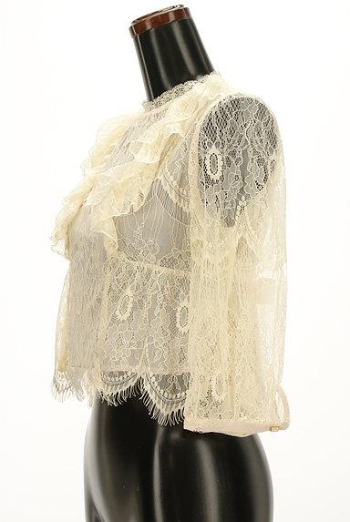 axes femme(アクシーズファム)の古着「リボン付きシアー総レースコンパクトカットソー(ブラウス)」大画像3へ