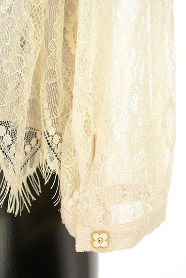 axes femme(アクシーズファム)の古着「リボン付きシアー総レースコンパクトカットソー(ブラウス)」大画像5へ