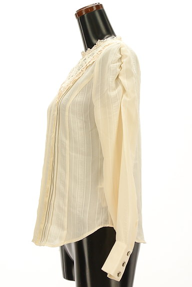 axes femme(アクシーズファム)の古着「シアー刺繍レース切替シフォンブラウス(ブラウス)」大画像3へ